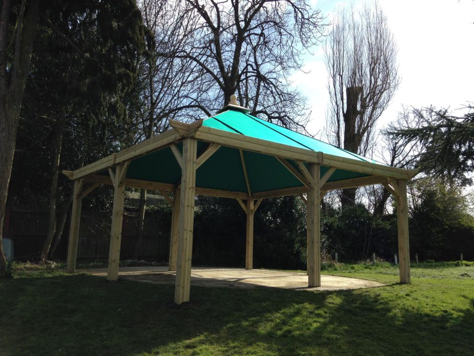 New Fire Pit Shelter With Canvas Roof The Hideout House