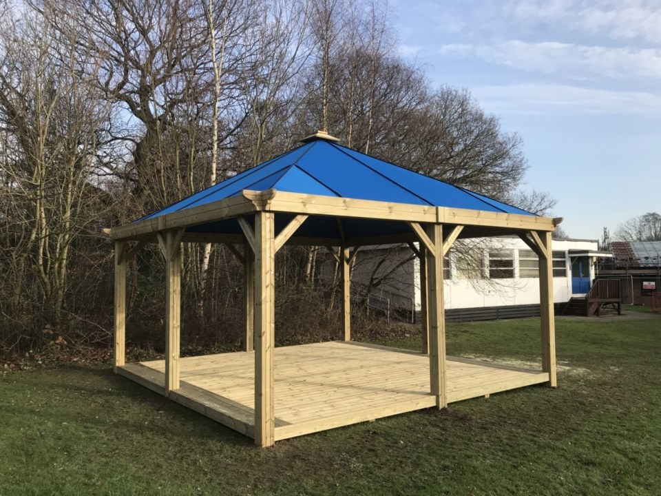 Outdoor Shelters With Canvas Roof The Hideout House Company