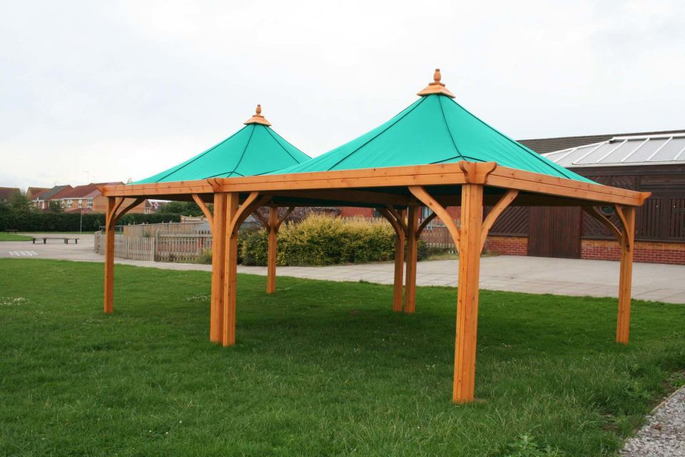Outdoor Shelters With Canvas Roof