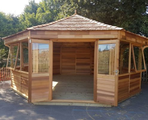 enclosed outdoor classrooms