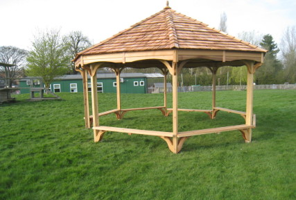 outdoor shelters and classrooms