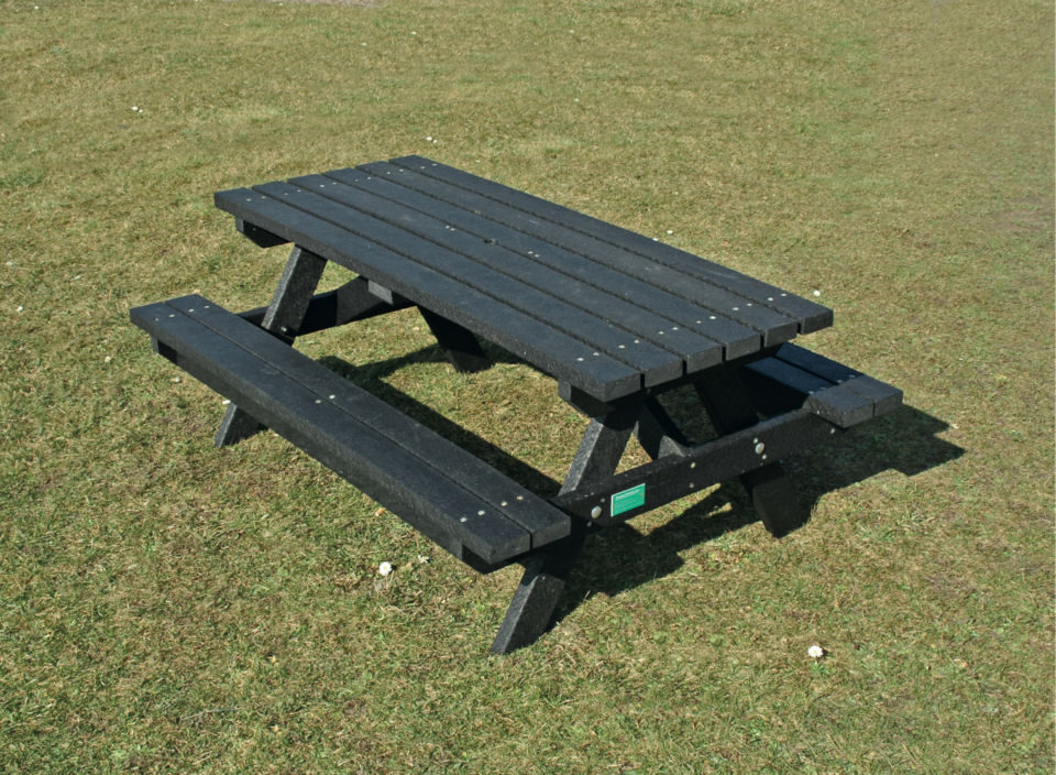 Recycled Plastic Picnic Tables Planters Raised Beds The Hideout - Plastic bench that turns into a picnic table
