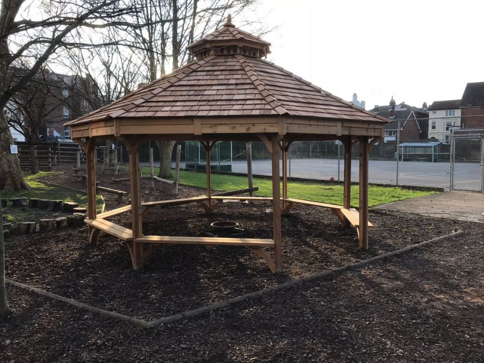 Outdoor Fire Pit Shelter : Fire pit shelter outdoor classroom the hideout house