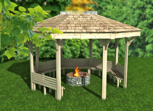fire pit shelter & outdoor classroom