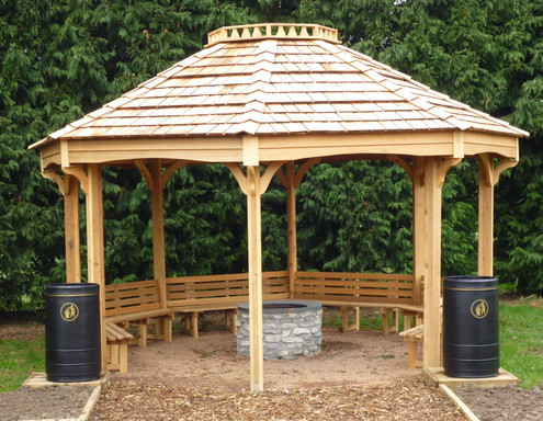 fire pit shelter & outdoor classroom - Fire Pit Gazebo Archives • The Hideout House Company