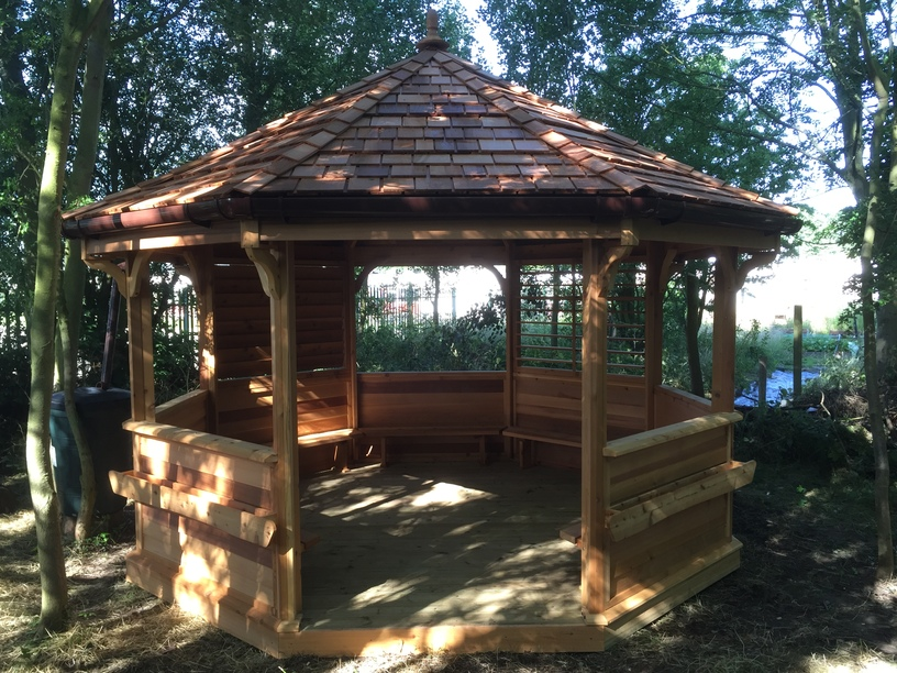 Fire Pit Shelter Amp Outdoor Classroom The Hideout House Company