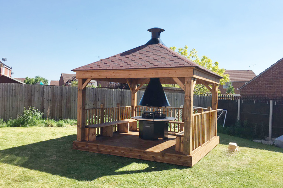 Outdoor Cooking Fire Pit Shelter The Hideout House Company